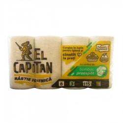 HARTIE IGIENICA EL CAPITAN 3 STR 8 ROLE BUMBAC PROASPAT