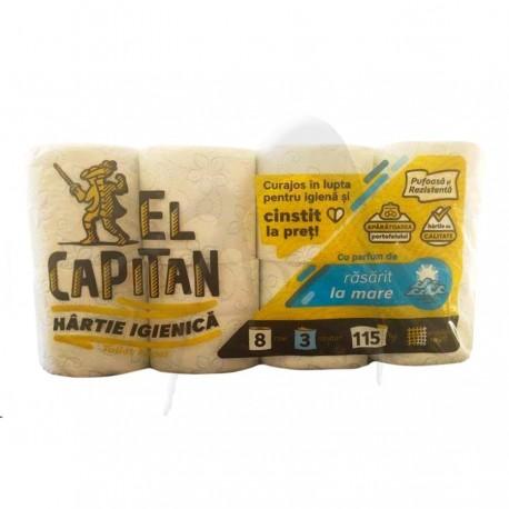 HARTIE IGIENICA EL CAPITAN 3 STR 8 ROLE RASARIT DE MARE