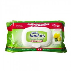 SERVETELE UMEDE ANTIBACTERIAN LEMON WET HANKIES 72/SET