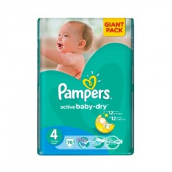 SCUTECE NR.4 MAXI GIANT PACK PAMPERS 76/SET