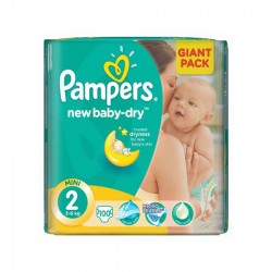 SCUTECE NR.2 GIANT PACK PAMPERS 100/SET