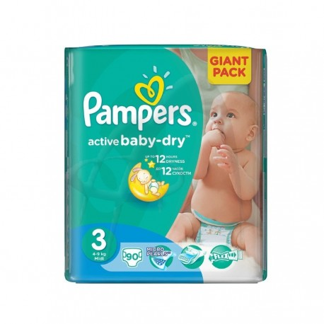 SCUTECE NR. 3 MID PAMPERS 90/SET