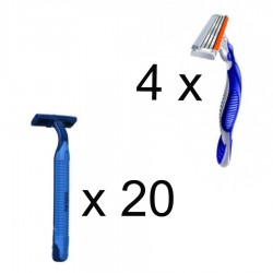 APARAT RAS BLUE 2 SI 3 GILLETTE 24/SET