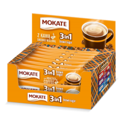 CAFEA MOKATE BROWN SUGAR 3IN1 17G, 24/CUTIE