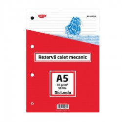 REZERVA CAIET MECANIC A5 DICTANDO 50 FILE
