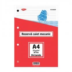 REZERVA CAIET MECANIC A4 DICTANDO 50 FILE