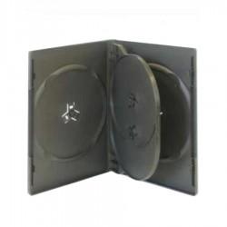 CARCASA PLASTIC NEGRU 4 DVD-URI