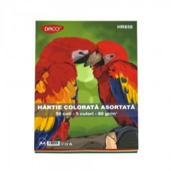 HARTIE COLORATA ASORTATA 50 COLI/SET