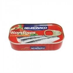 SARDINE IN SOS TOMATE DELMONACO 125G