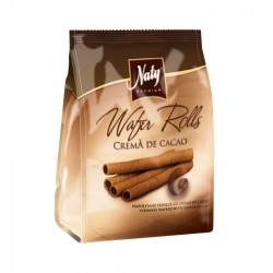WAFERS RULOURI CREMA CACAO NATY