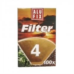 HARTIE FILTRU CAFEA NR 4 ALU-FIX